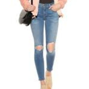 Frame Le Skinny De Jeanne Distressed Jeans Size 27
